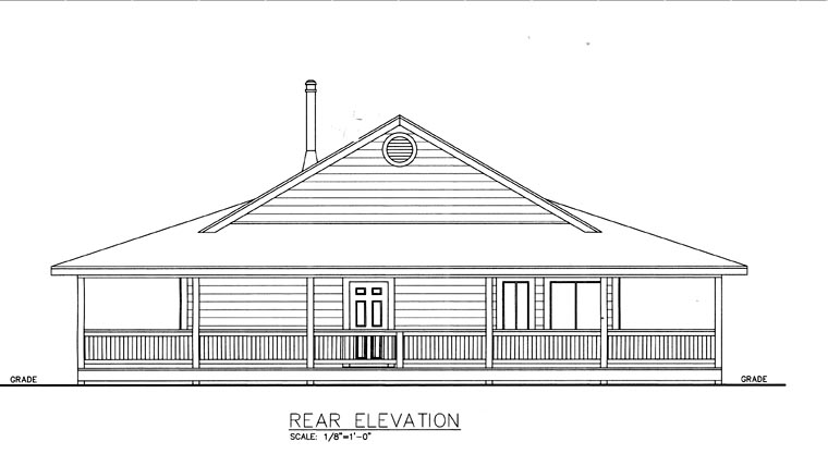 House Plan 85827 Rear Elevation
