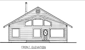 House Plan 85828 with 2 Beds, 2 Baths Elevation