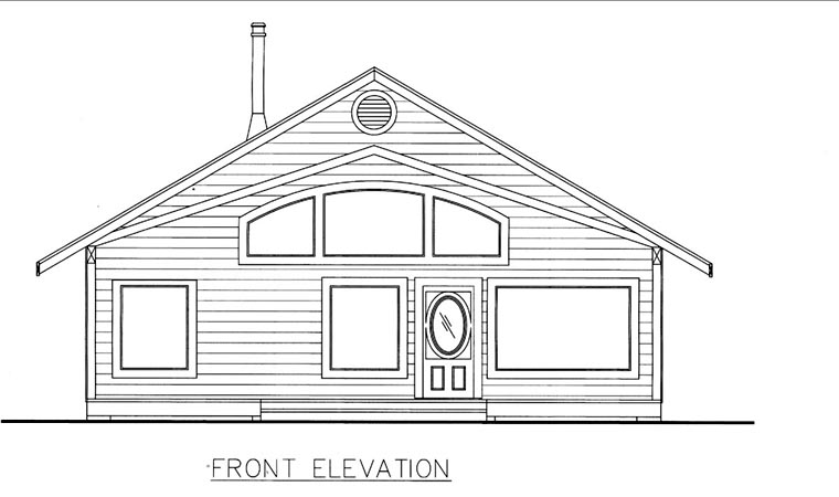 Elevation of Plan 85828