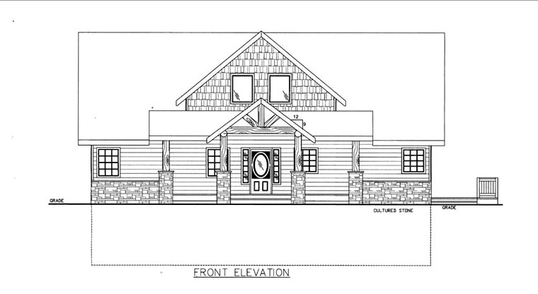 House Plan 85830 Elevation
