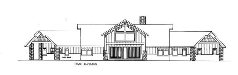 House Plan 85831 Elevation