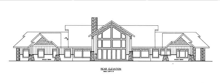 House Plan 85831 Rear Elevation