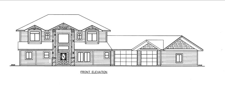House Plan 85832 Elevation
