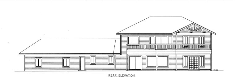 House Plan 85832 Rear Elevation
