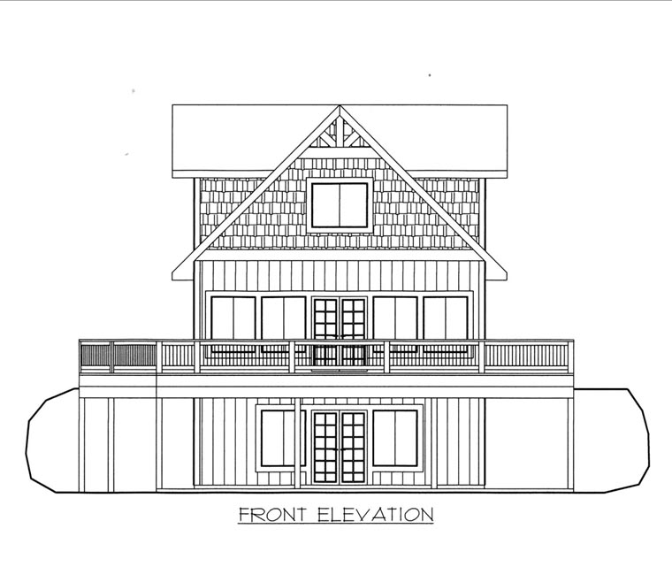 Elevation of Plan 85833