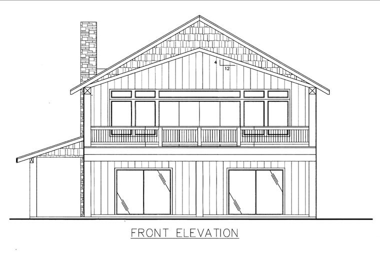 House Plan 85834 Elevation