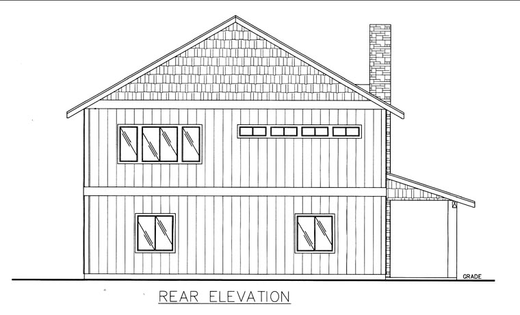 House Plan 85834 | Style Plan with 3396 Sq Ft, 2 Bedrooms, 2 Bathrooms, 2 Car Garage Rear Elevation