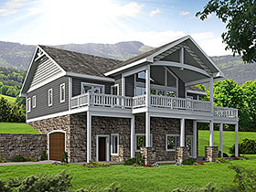 House Plan 85835 | Style House Plan with 2404 Sq Ft, 4 Bed, 4 Bath, 2 Car Garage Elevation