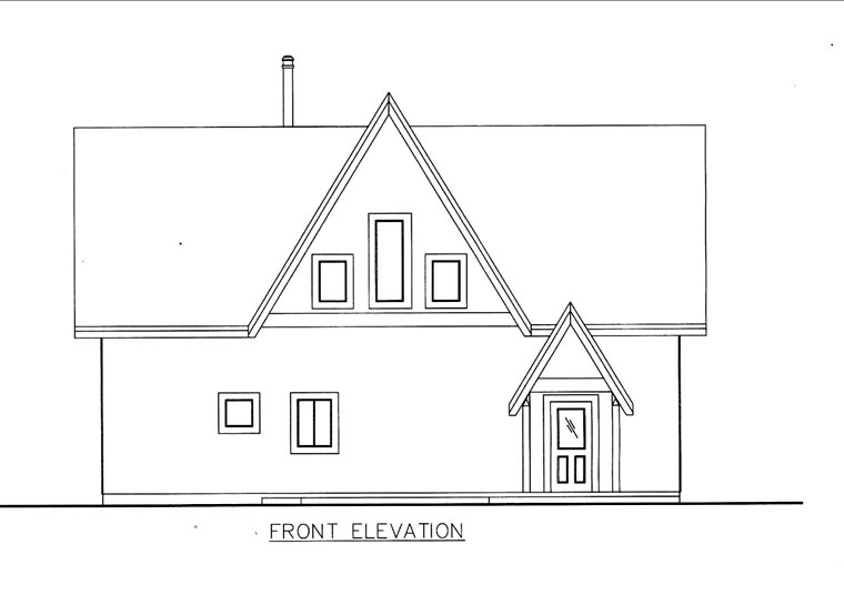 House Plan 85836 Elevation