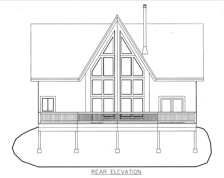 House Plan 85836 Rear Elevation