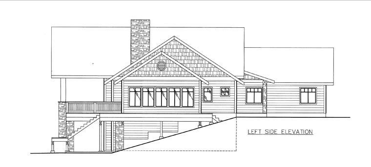 House Plan 85837 with 5 Beds, 3 Baths, 2 Car Garage Picture 1