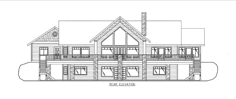 House Plan 85837 Rear Elevation