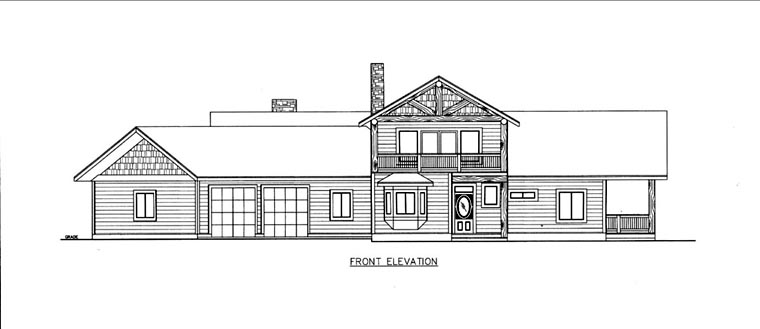 House Plan 85838 Elevation