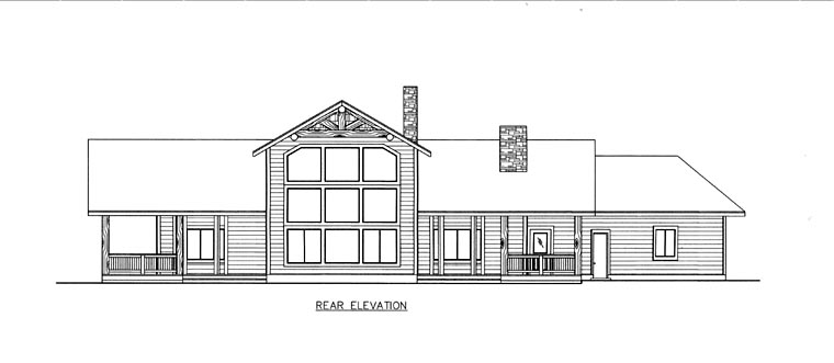 House Plan 85838 Rear Elevation