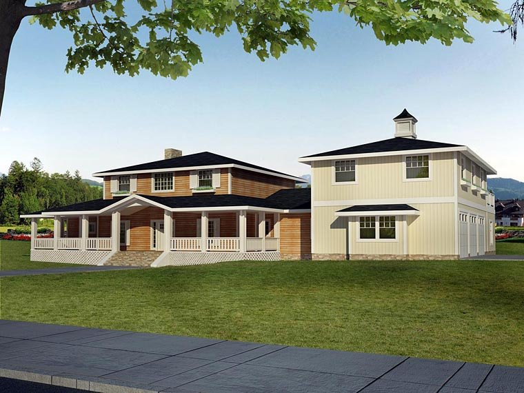 House Plan 85839 with 4 Beds, 3 Baths, 3 Car Garage Elevation