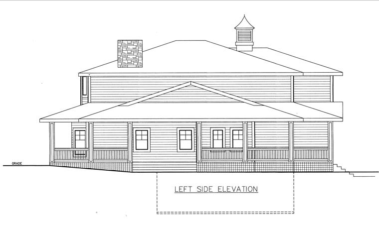 House Plan 85839 with 4 Beds, 3 Baths, 3 Car Garage Picture 1