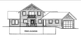 House Plan 85840 | Style Plan with 1565 Sq Ft, 2 Bedrooms, 3 Bathrooms, 2 Car Garage Elevation