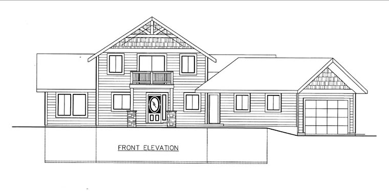 House Plan 85840 Elevation