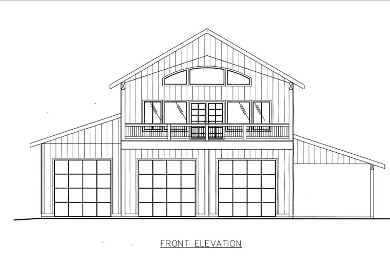 Elevation of Plan 85841