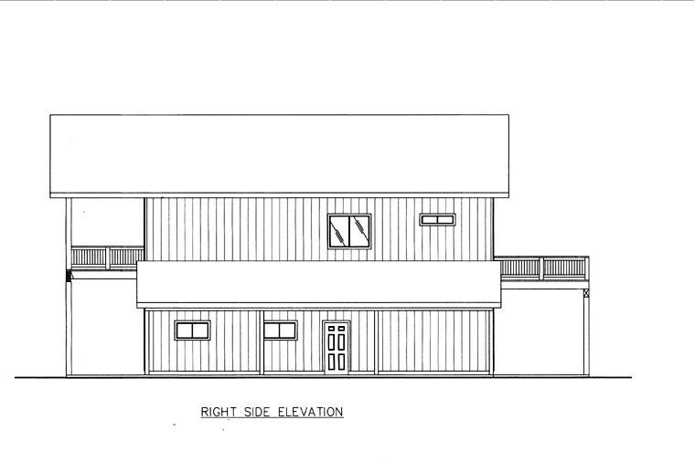 House Plan 85841 with 2 Beds, 2 Baths, 5 Car Garage Picture 1