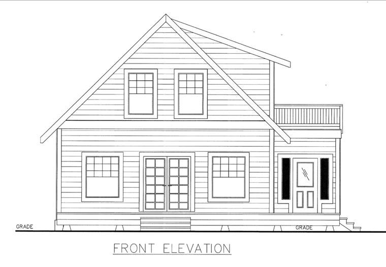 House Plan 85842 Elevation