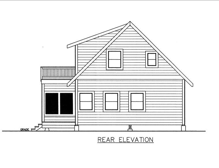 House Plan 85842 Rear Elevation