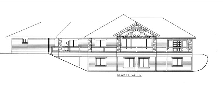 House Plan 85843 Rear Elevation