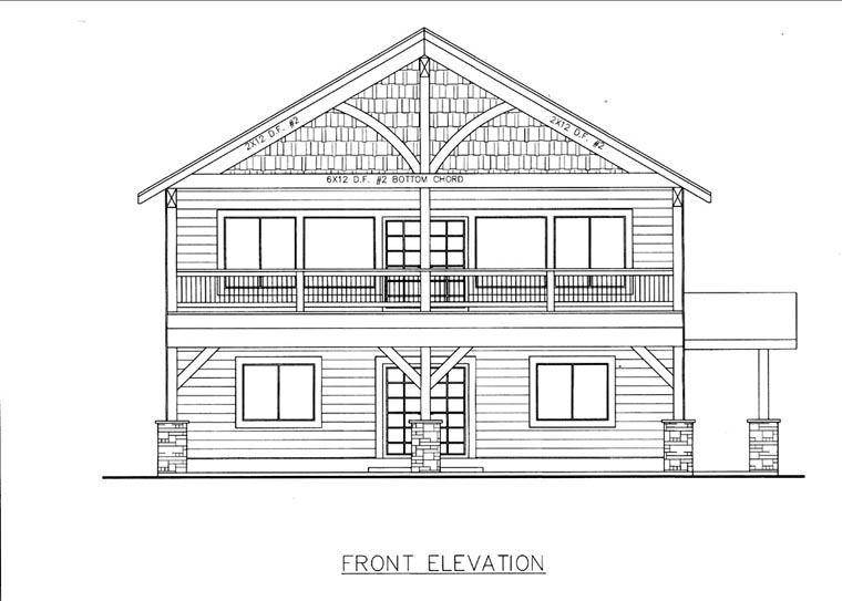 House Plan 85845 Elevation