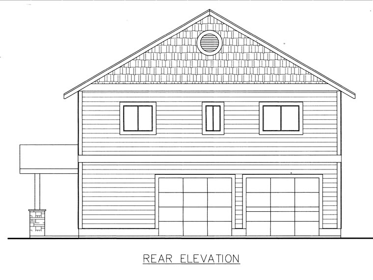 House Plan 85845 Rear Elevation