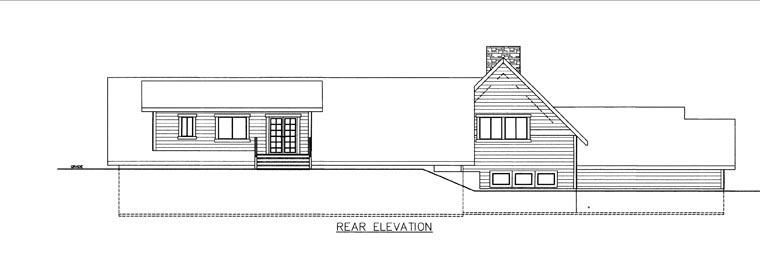 House Plan 85847 Rear Elevation