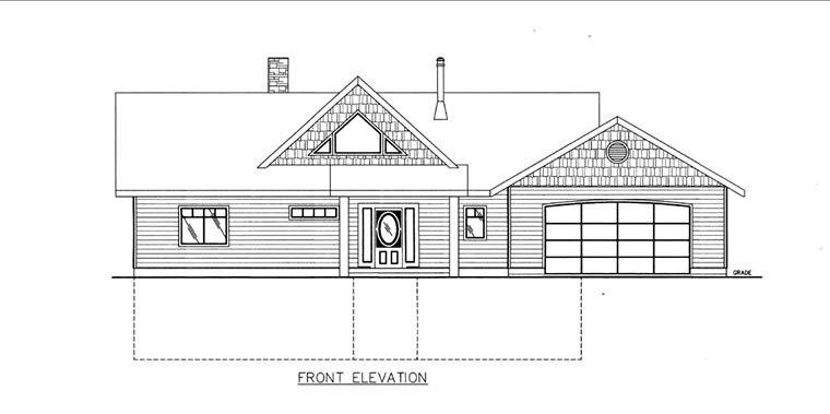 House Plan 85848 Elevation