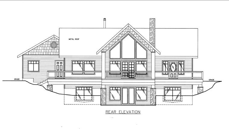 House Plan 85848 Rear Elevation