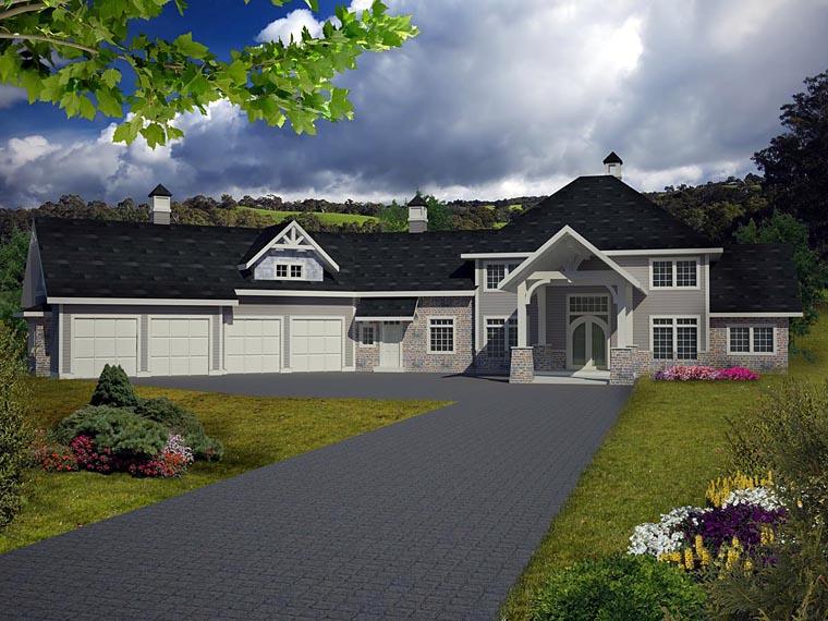 House Plan 85850 Elevation