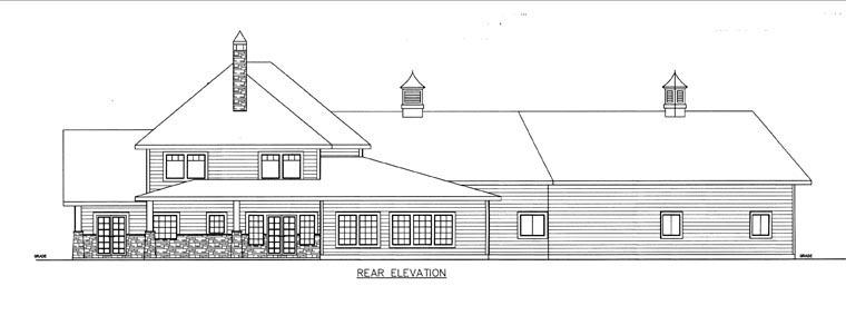 House Plan 85850 Rear Elevation