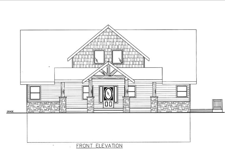 House Plan 85851 Elevation