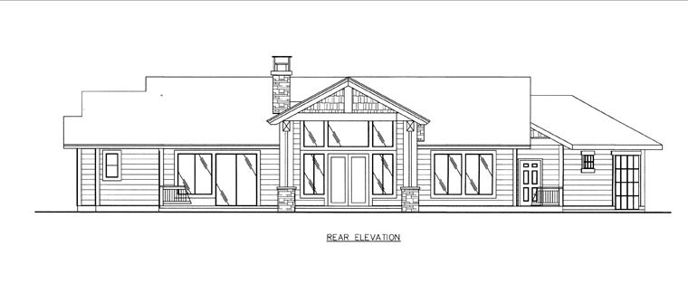 House Plan 85852 Rear Elevation