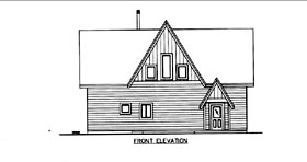 House Plan 85853 Elevation