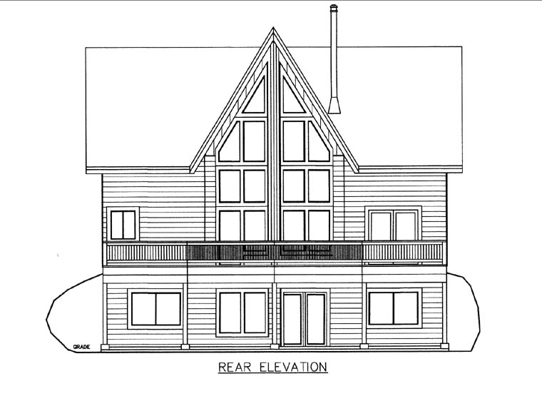 House Plan 85853 Rear Elevation