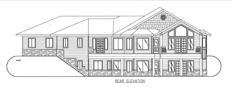 House Plan 85854 Rear Elevation