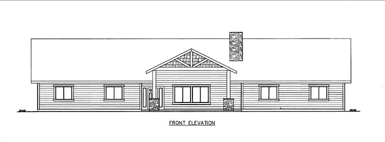 House Plan 85856 Elevation