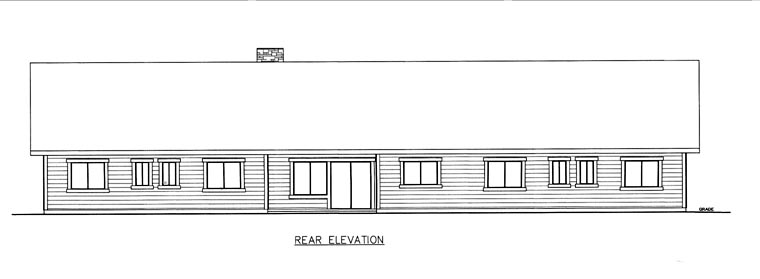 House Plan 85856 Rear Elevation