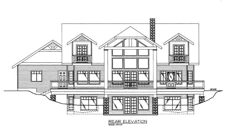 House Plan 85859 Rear Elevation