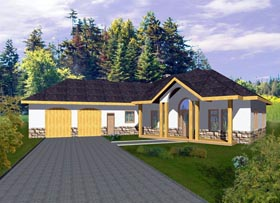 Contemporary House Plan 85860 with 3 Beds, 3 Baths, 2 Car Garage Elevation
