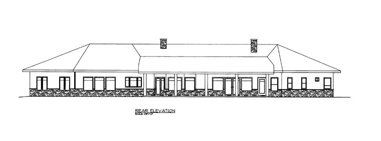 Contemporary House Plan 85860 Rear Elevation