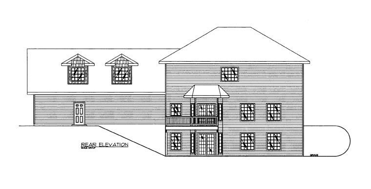 House Plan 85862 Rear Elevation