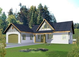 House Plan 85863 with 2 Beds, 3 Baths, 2 Car Garage Elevation