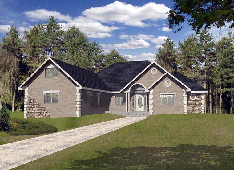 Contemporary House Plan 85865 Elevation