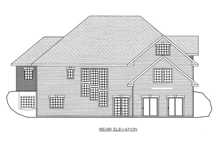 Contemporary House Plan 85865 Rear Elevation