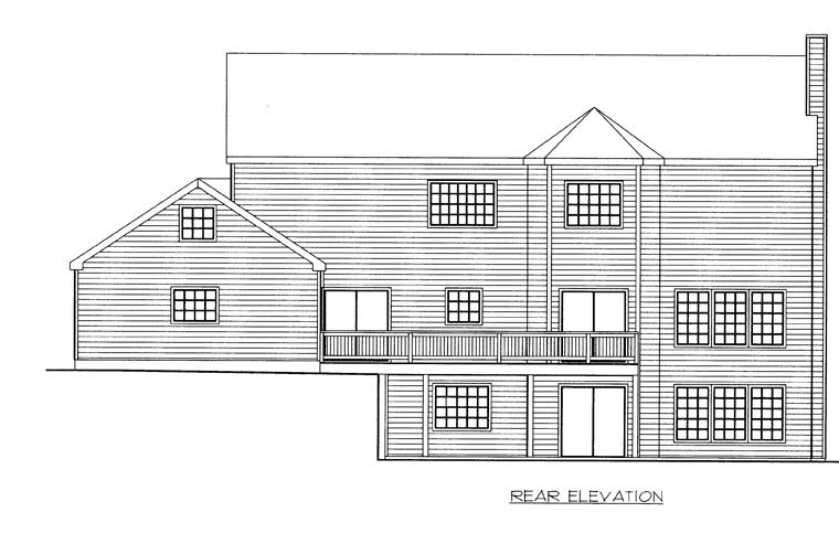 Country House Plan 85866 Rear Elevation