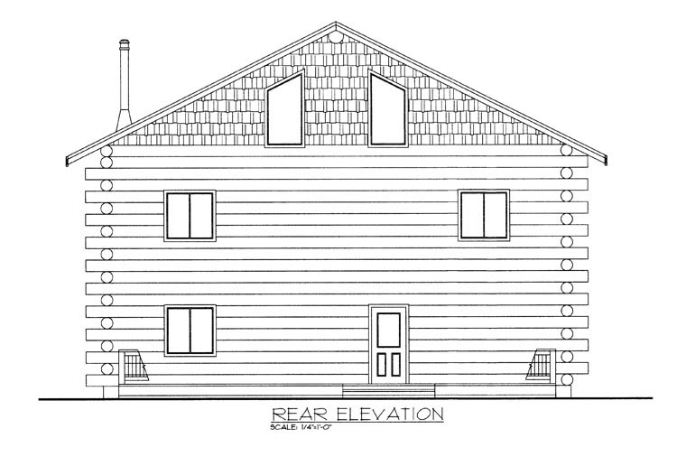 Log House Plan 85870 Rear Elevation